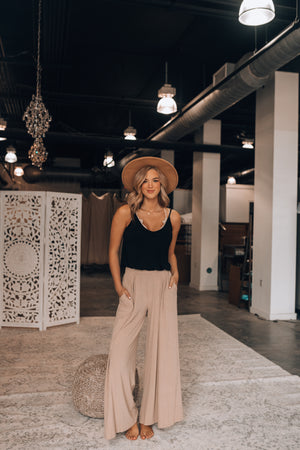 Essential Ribbed Pants (Mocha)