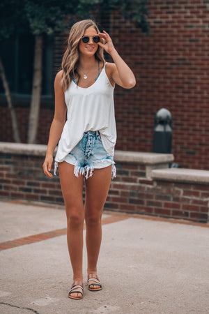 Erika Distressed Denim Shorts
