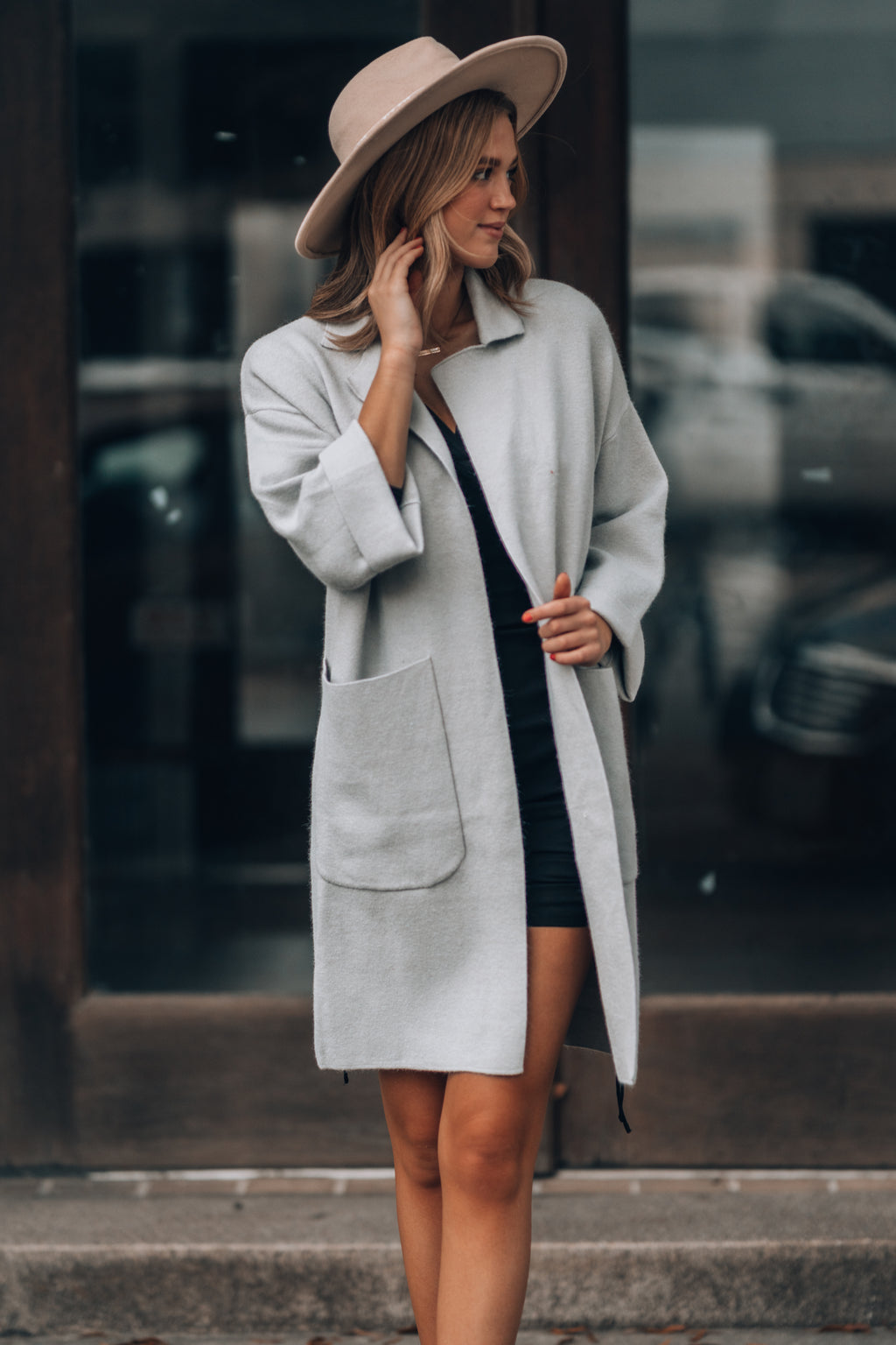 Brooklyn Trench Coat (Light Grey)