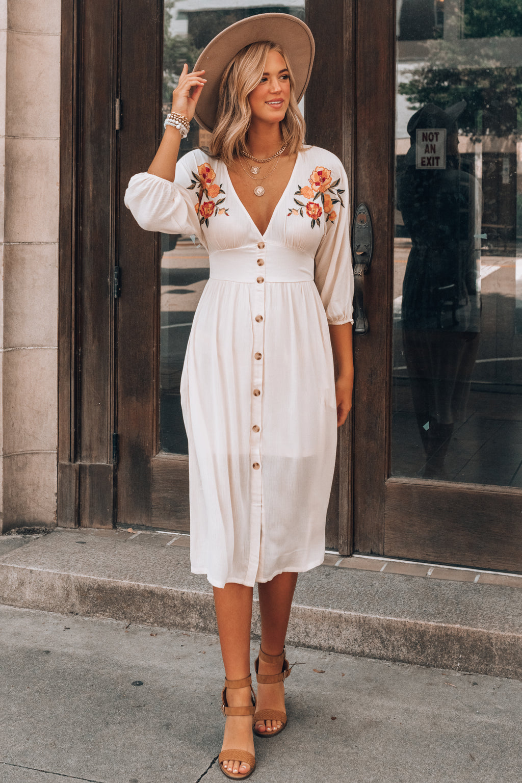Golden Valley Embroidered Dress PRE-ORDER Ships Mid August