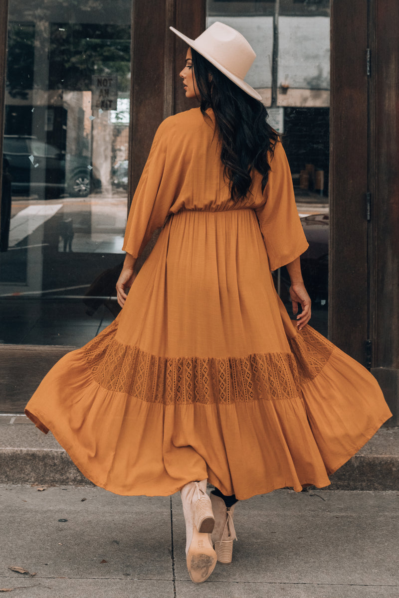 Kennedy Lace Duster (Caramel)
