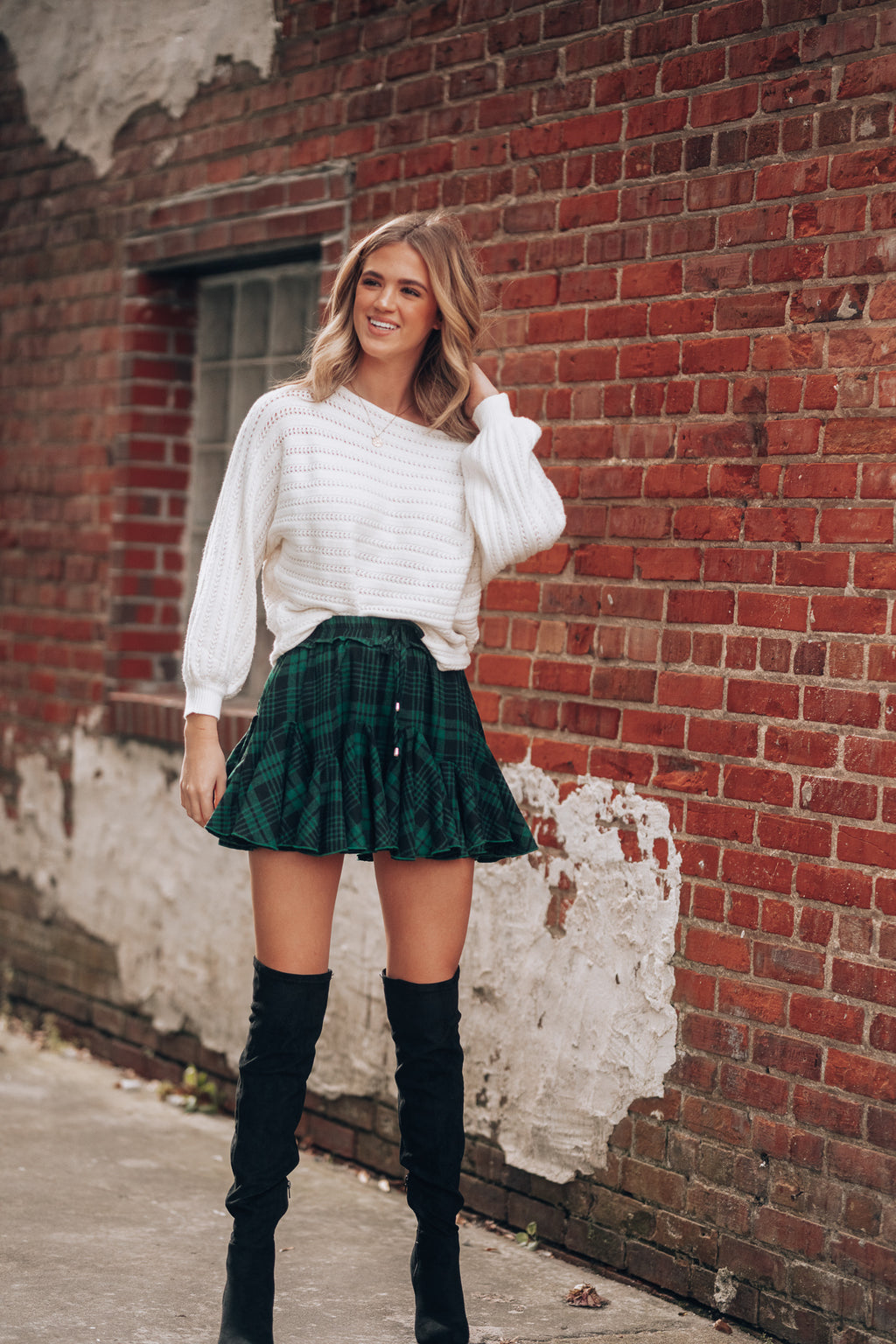 Plaid To Meet You Skort (Green/Black)