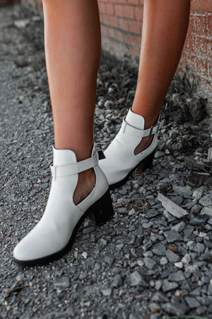 Go The Mile Booties (White) - FINAL SALE