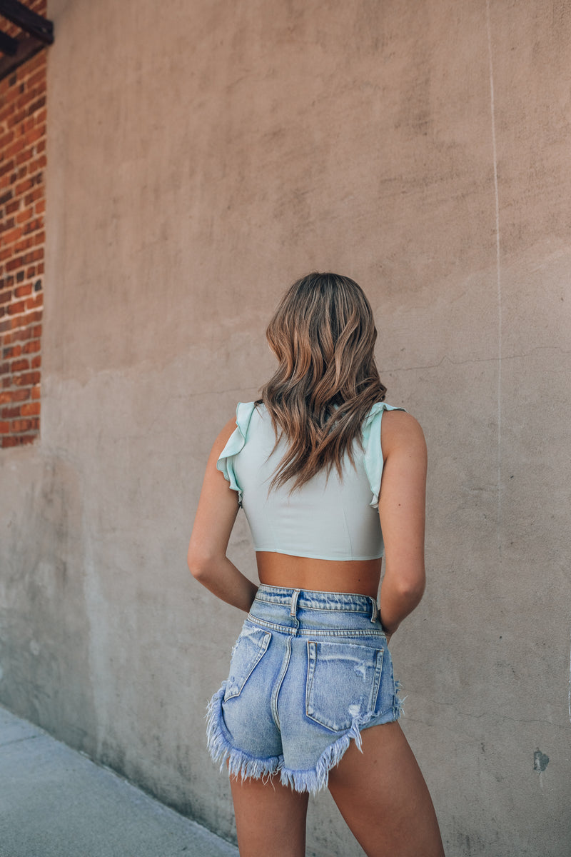 Forever Young Crop Top (Mint)
