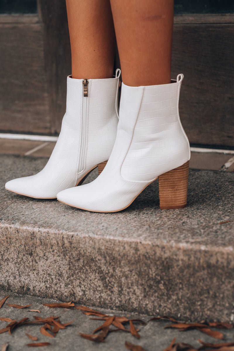 Tory Bootie (White)