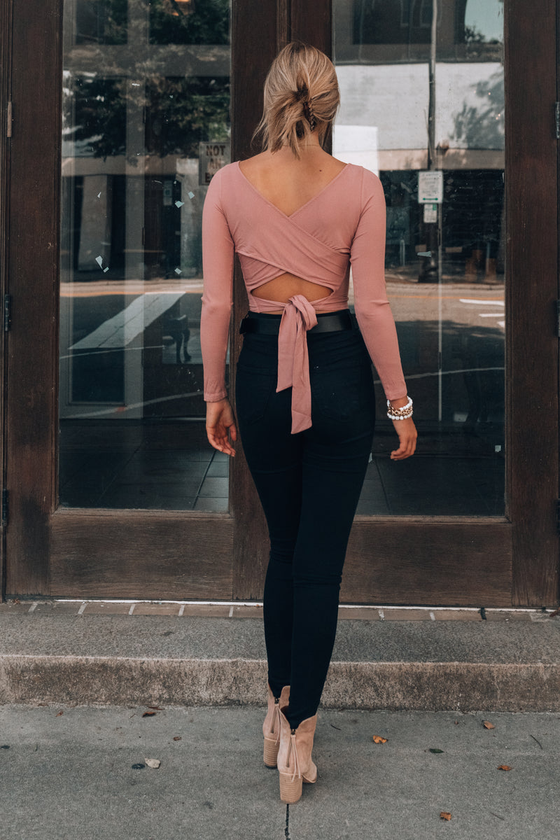 Run Wild Wrap Top (Rose)