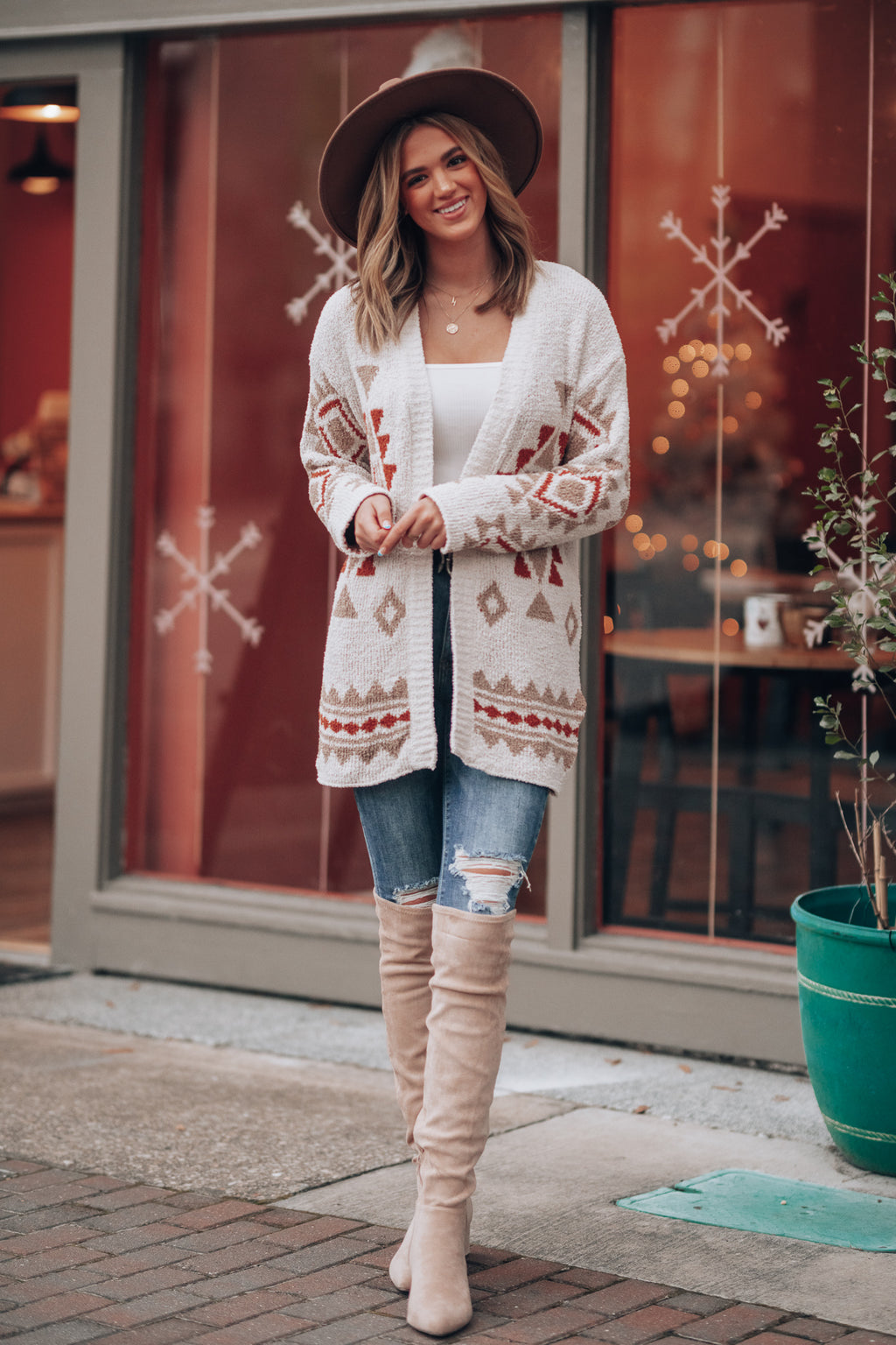 Asheville Aztec Cardigan (Cream)