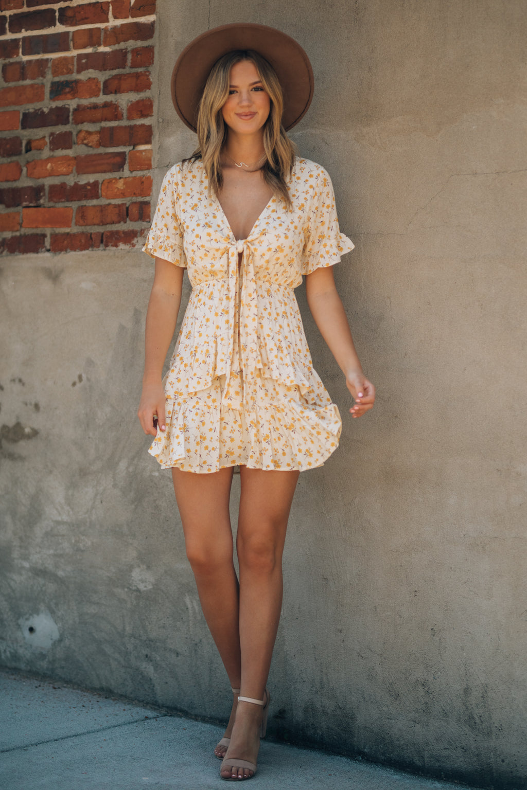 Raleigh Floral Mini Dress (Honeysuckle)