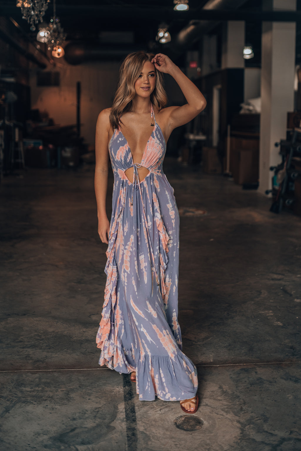 Atlas Tie Dye Maxi Dress