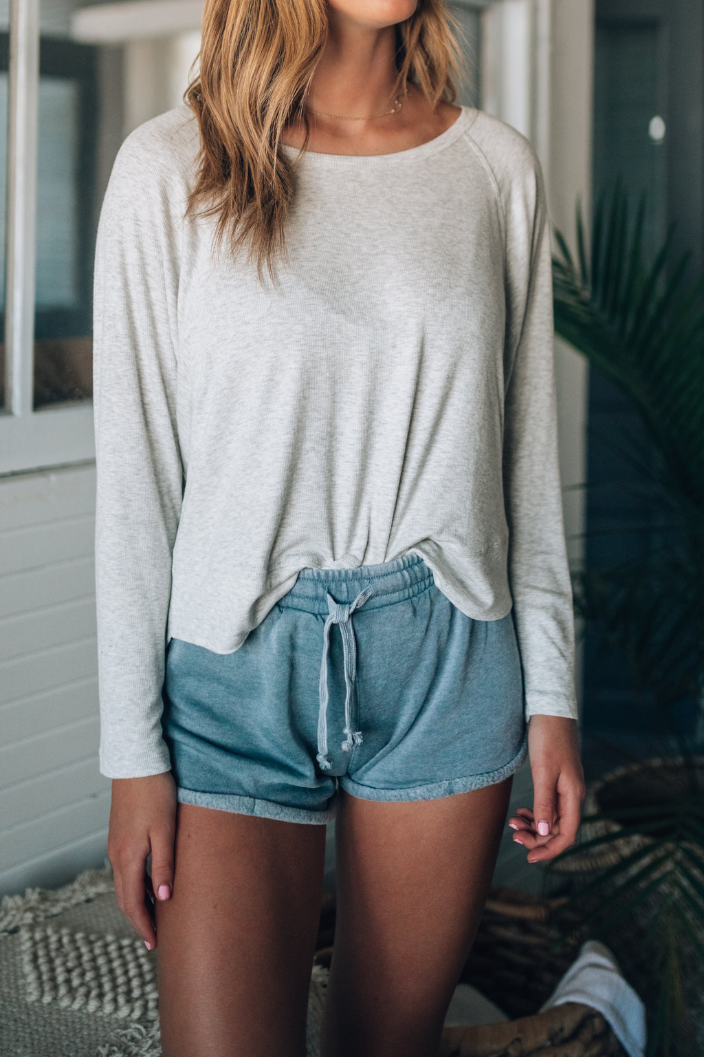 Stella Knit Long Sleeve Top (Grey)
