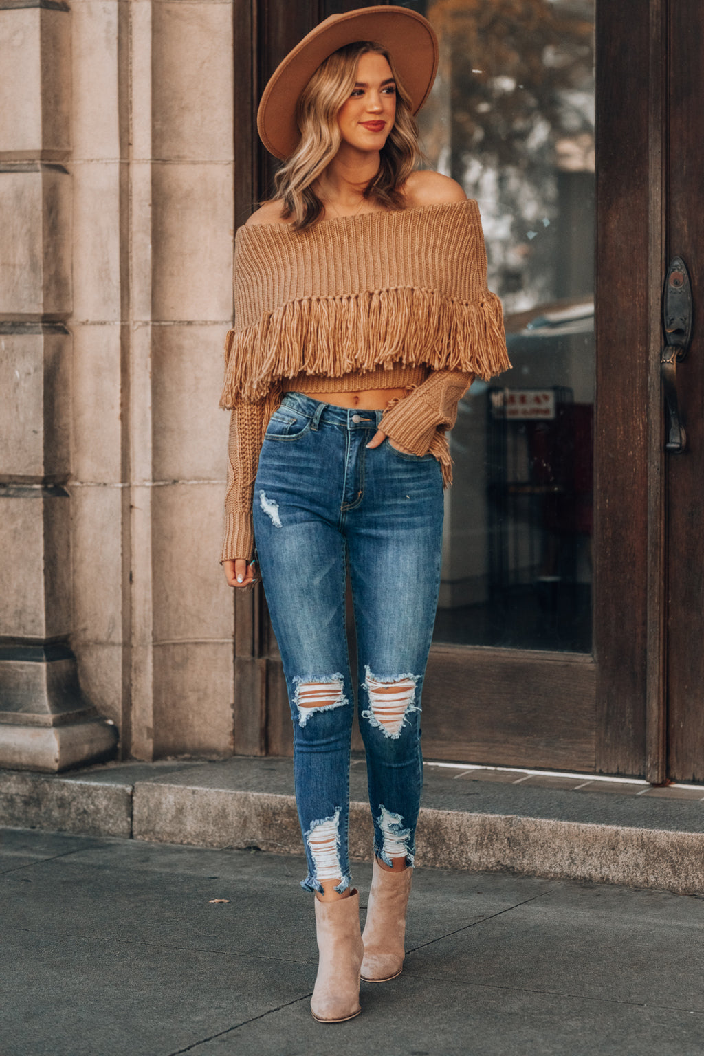 On The Fringe Sweater (Camel)