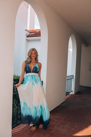 Midsummer Ombre Maxi Dress FINAL SALE