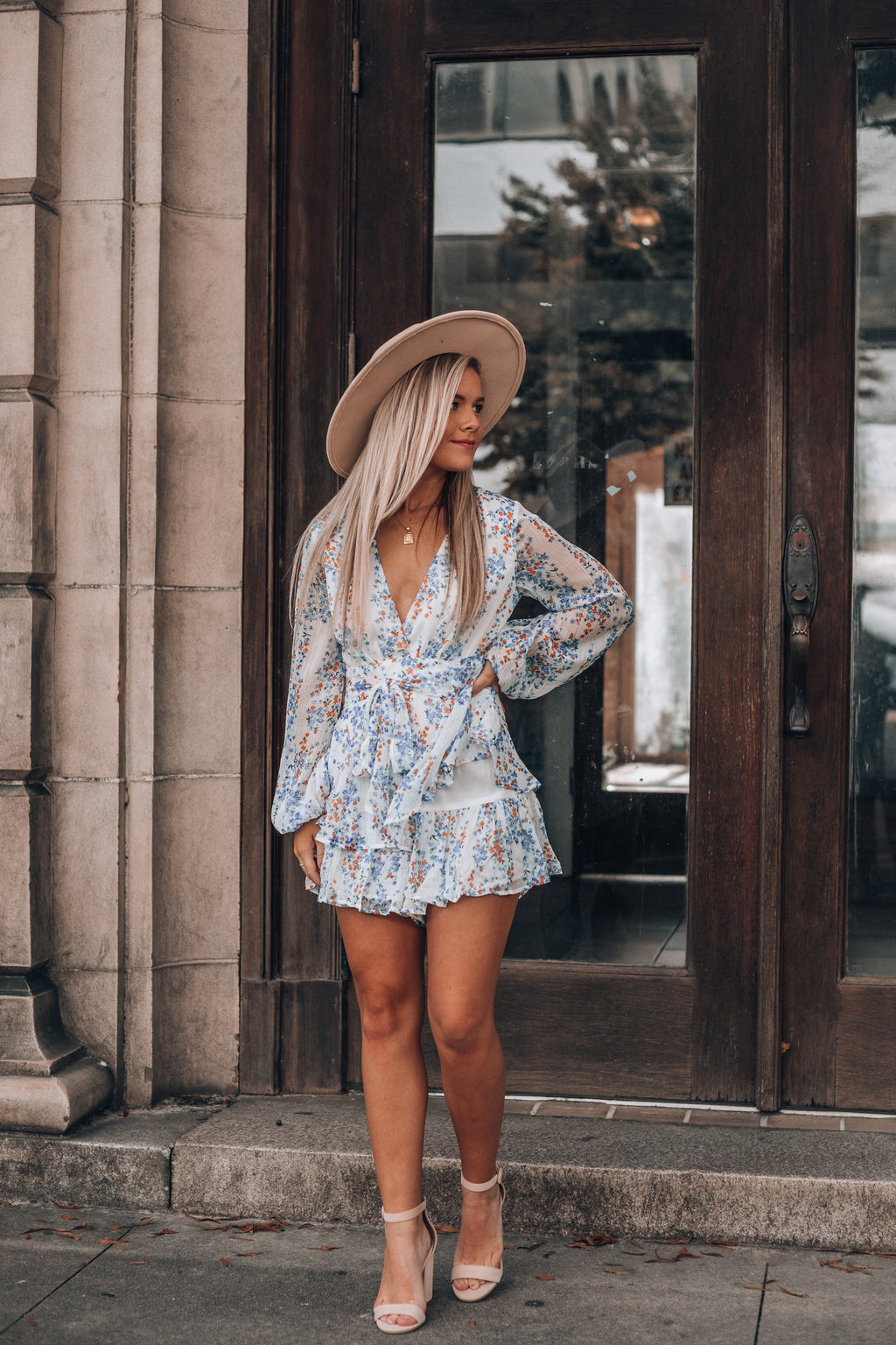 A Sure Thing Floral Romper (White)