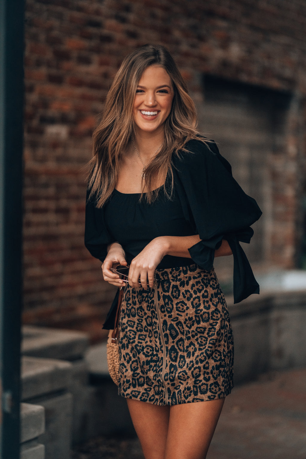 Back To Black Puff Blouse