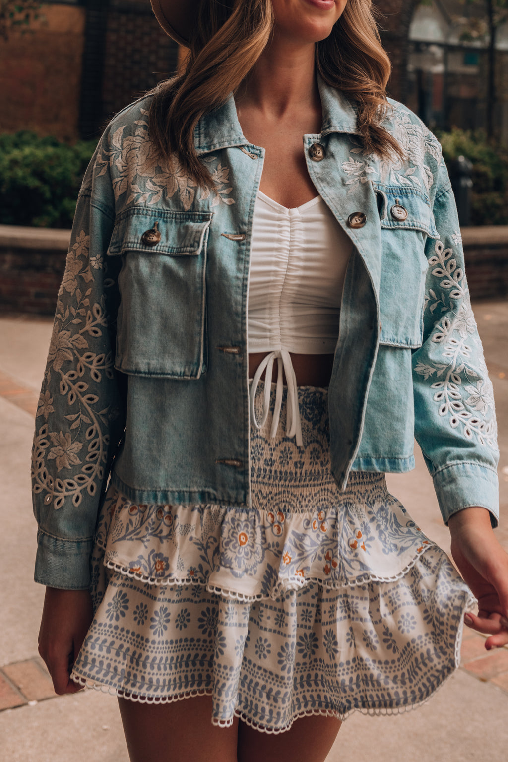 Beloved Embroidered Denim Jacket