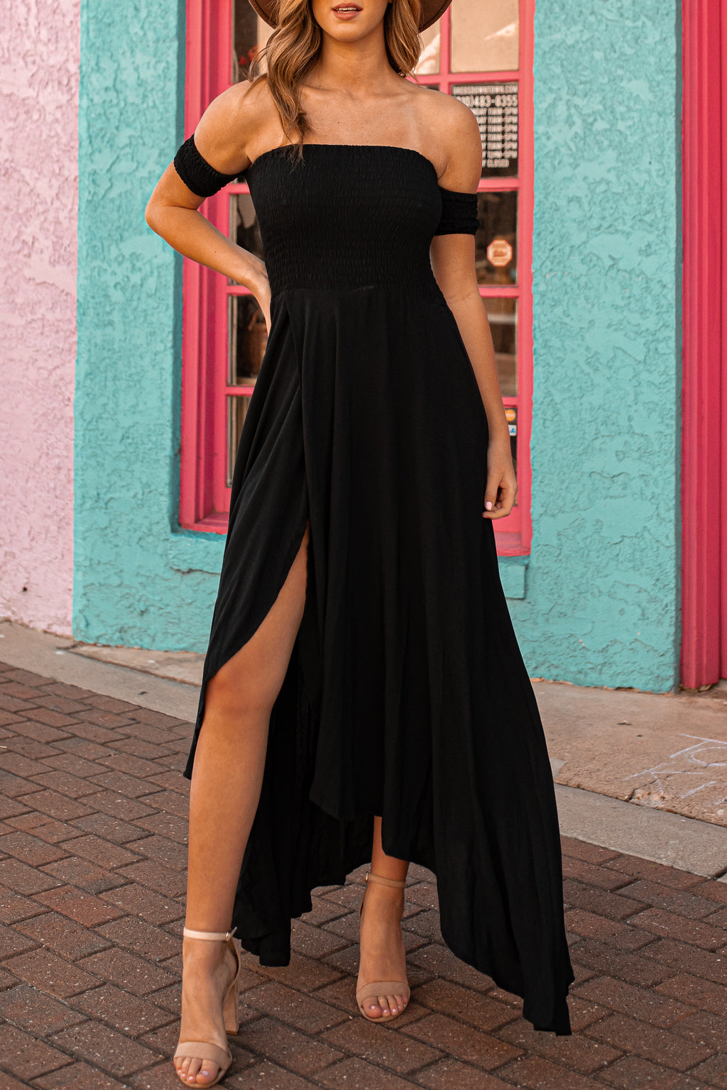 Harmony Hi-Low Dress (Black)