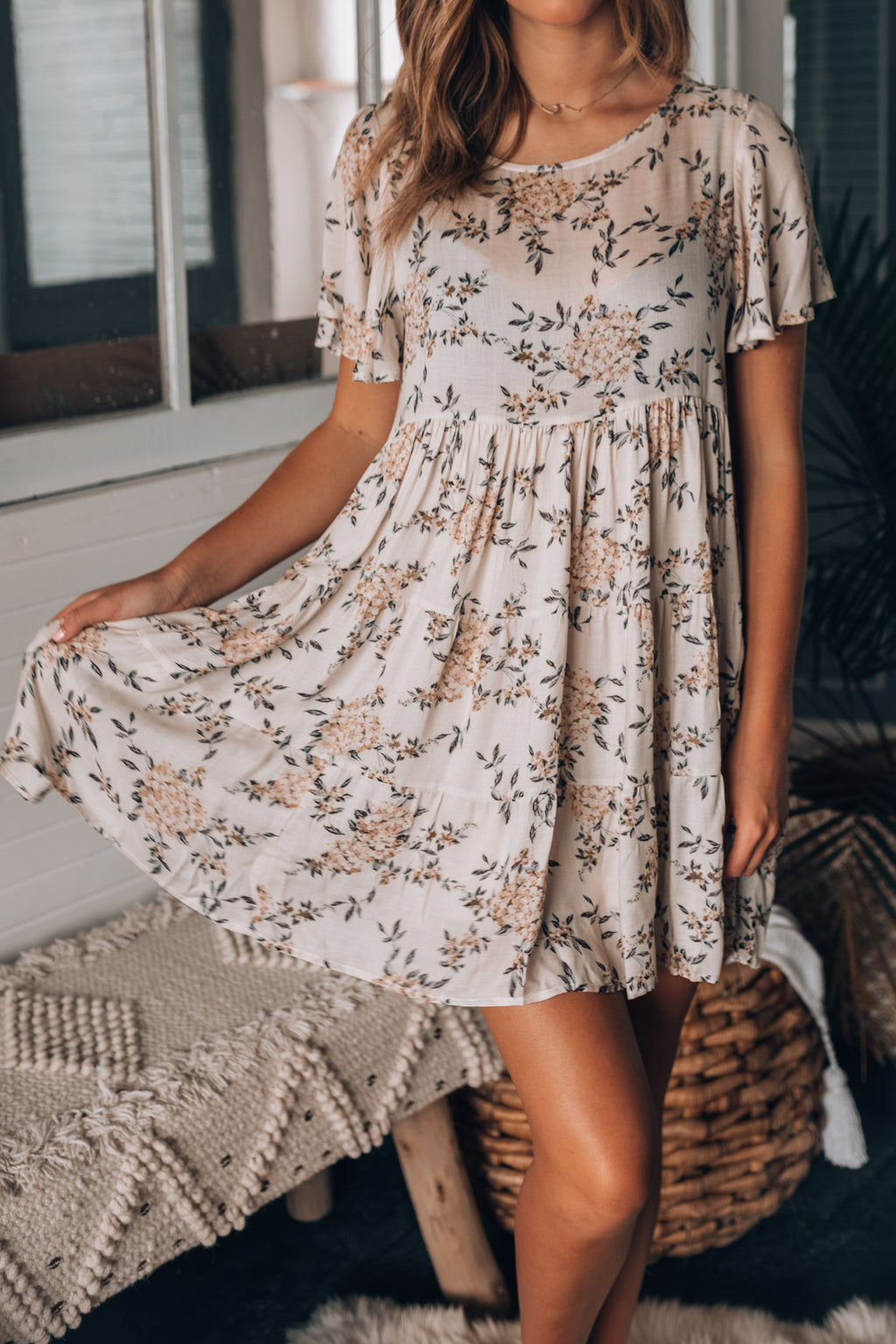 Day Dream Floral Mini Dress