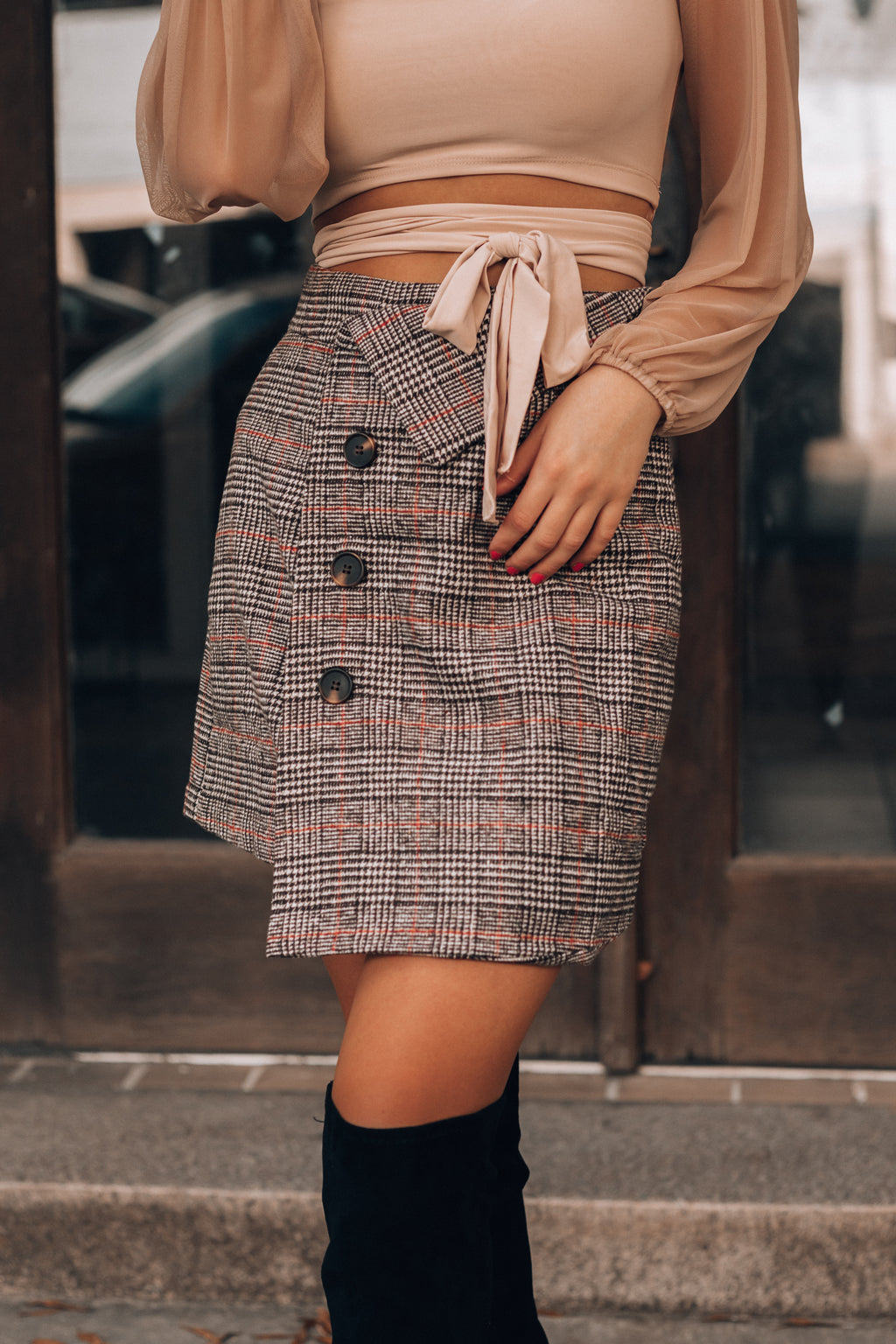 Mylan Plaid Skirt