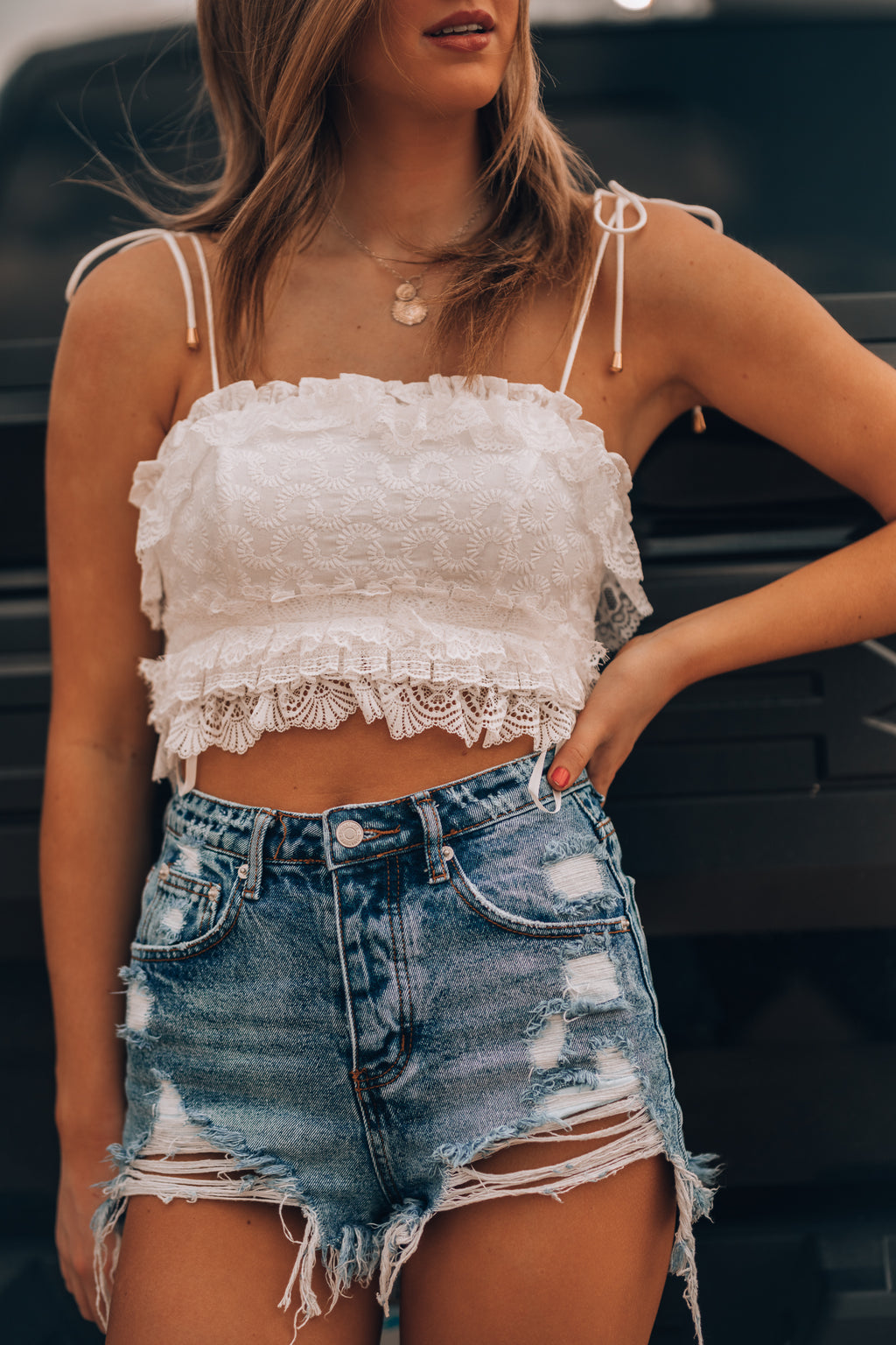 Country Road Lace Crop Top