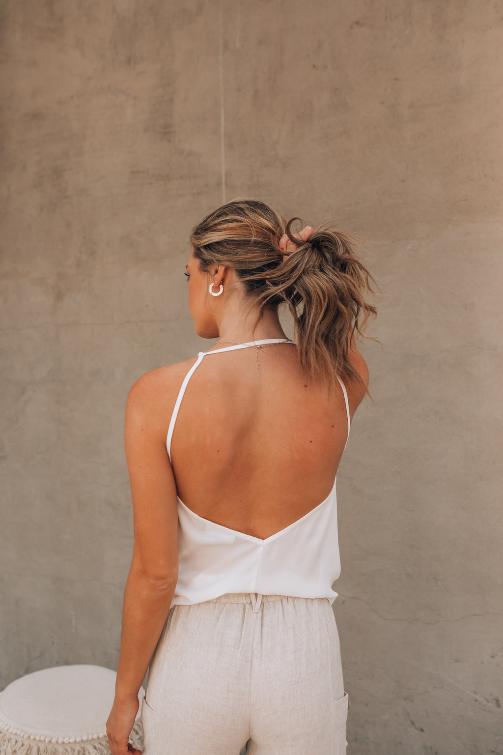 Date Night Backless Cami (Ivory) PRE-ORDER Ships Mid July