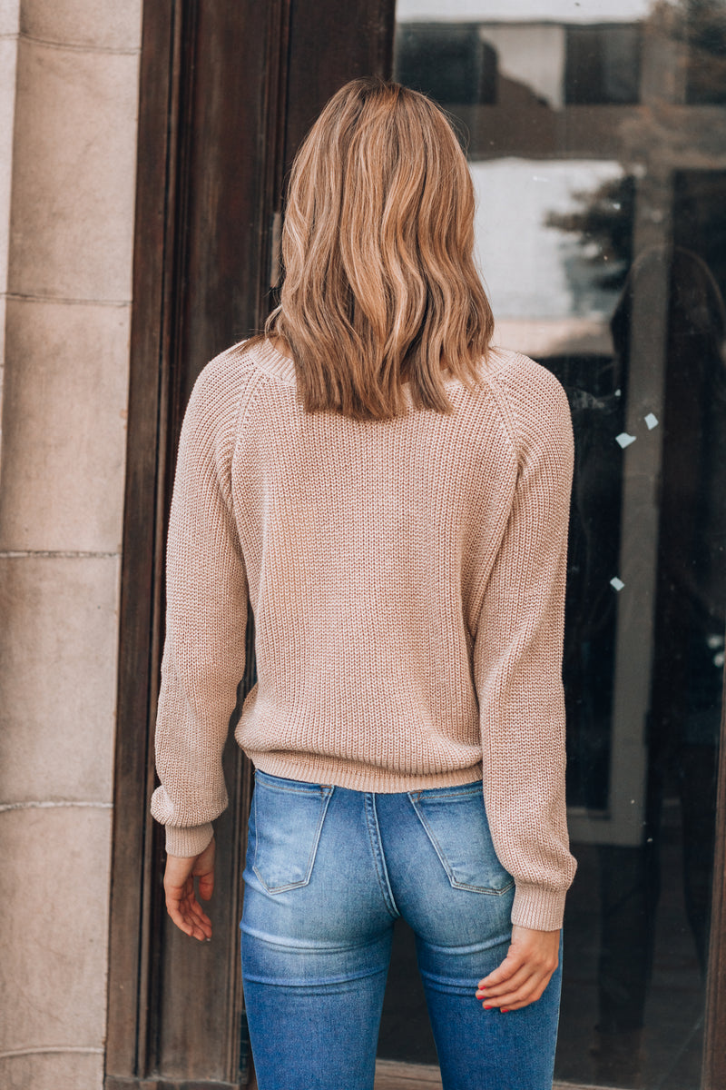 In A Cinch Sweater (Tan)