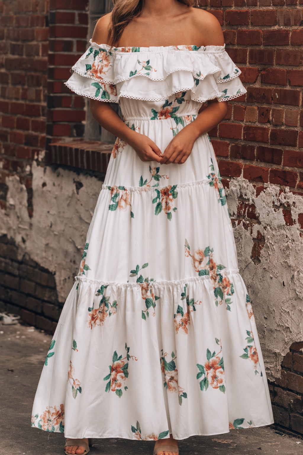 Orchid Off Shoulder Maxi Dress