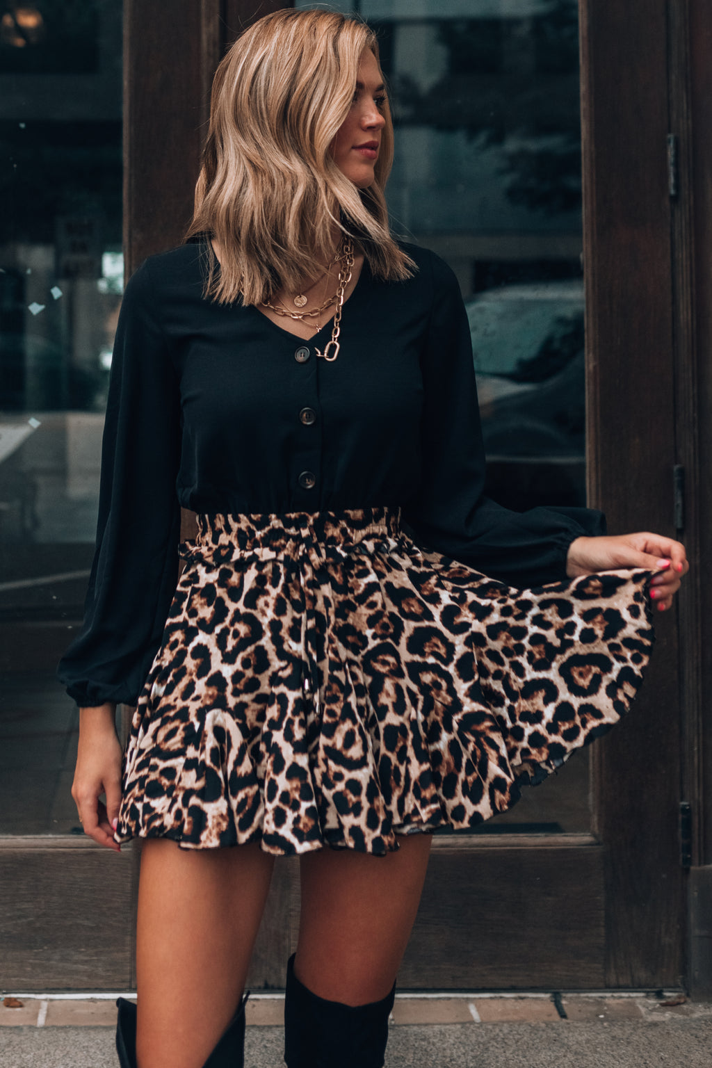 Wild Nights Leopard Romper Dress PRE-ORDER Ships End Of September