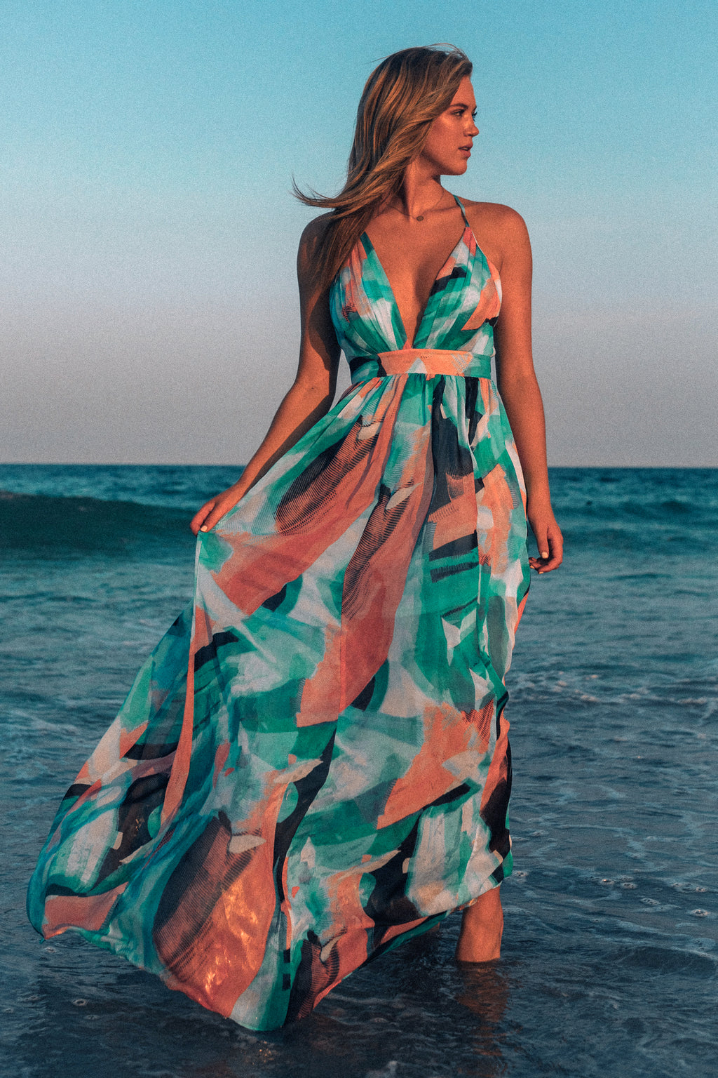 Essence Watercolor Maxi Gown