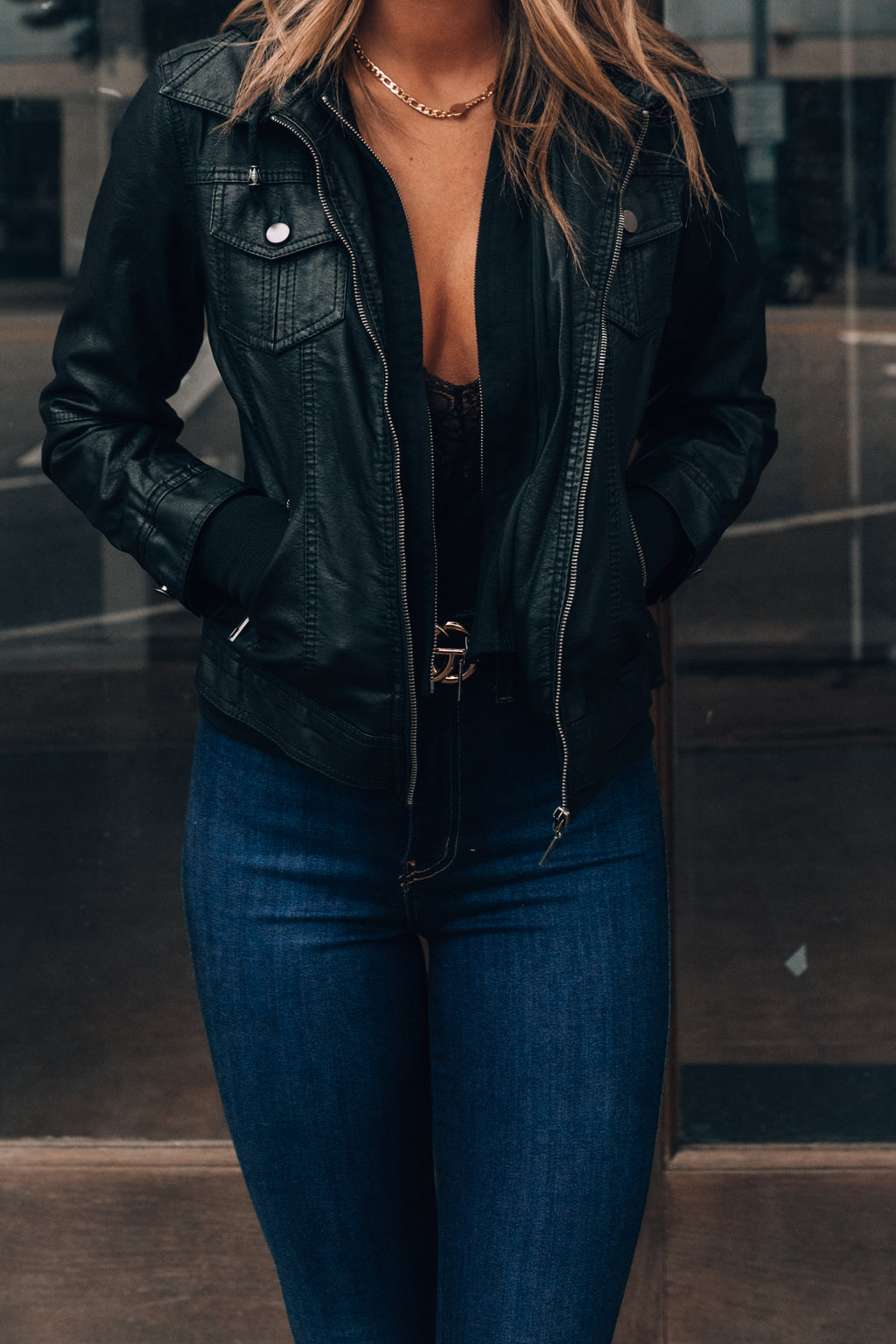 Jet Set Vegan Leather Jacket (Black) PRE-ORDER Ships Mid November