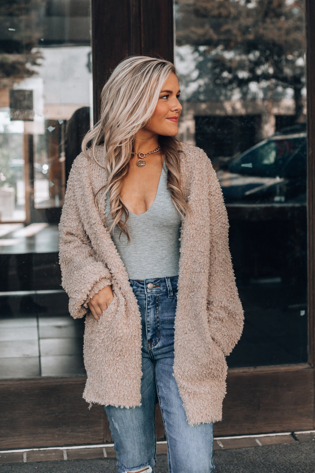 Harley Cozy Cardigan (Taupe)