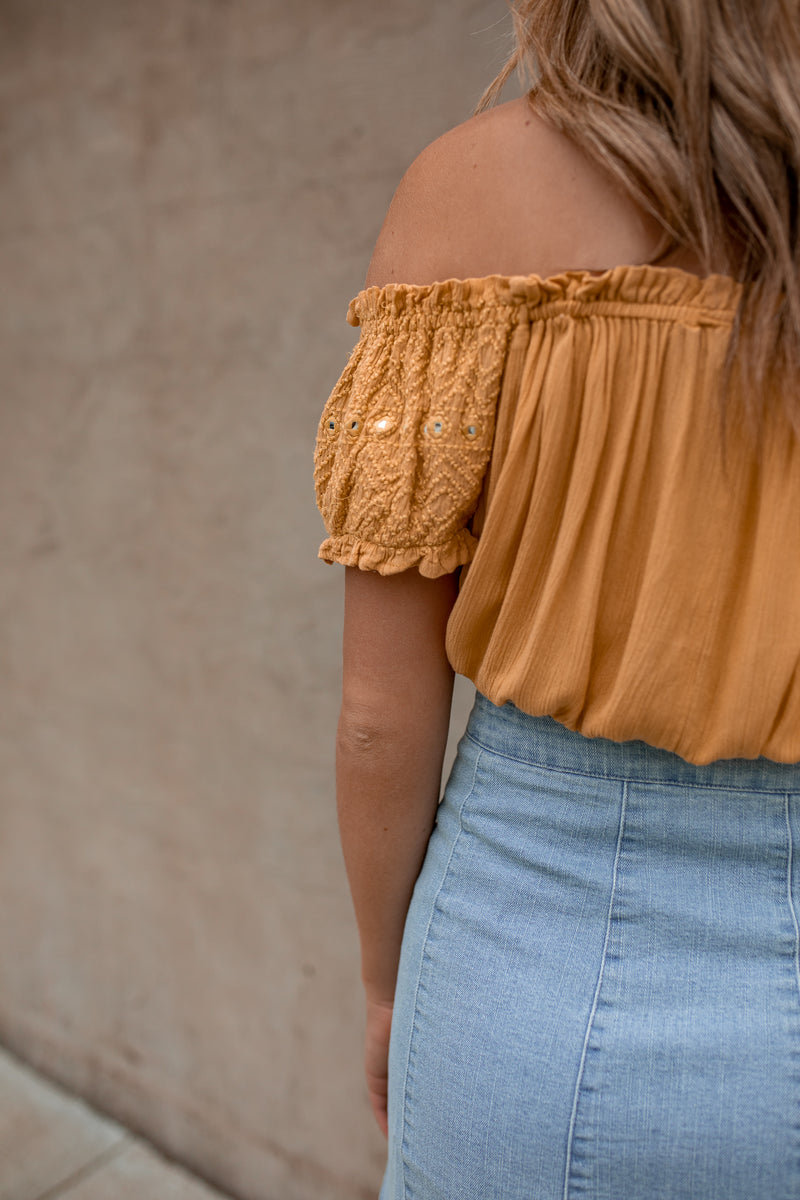 Jane Off Shoulder Crop Top