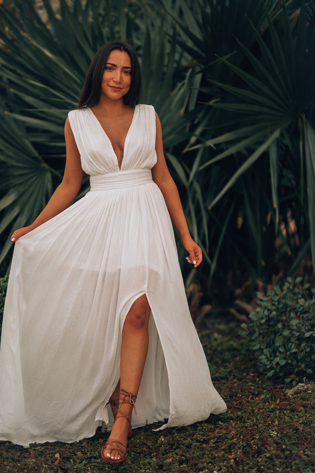 Stockholm Maxi Dress (White)