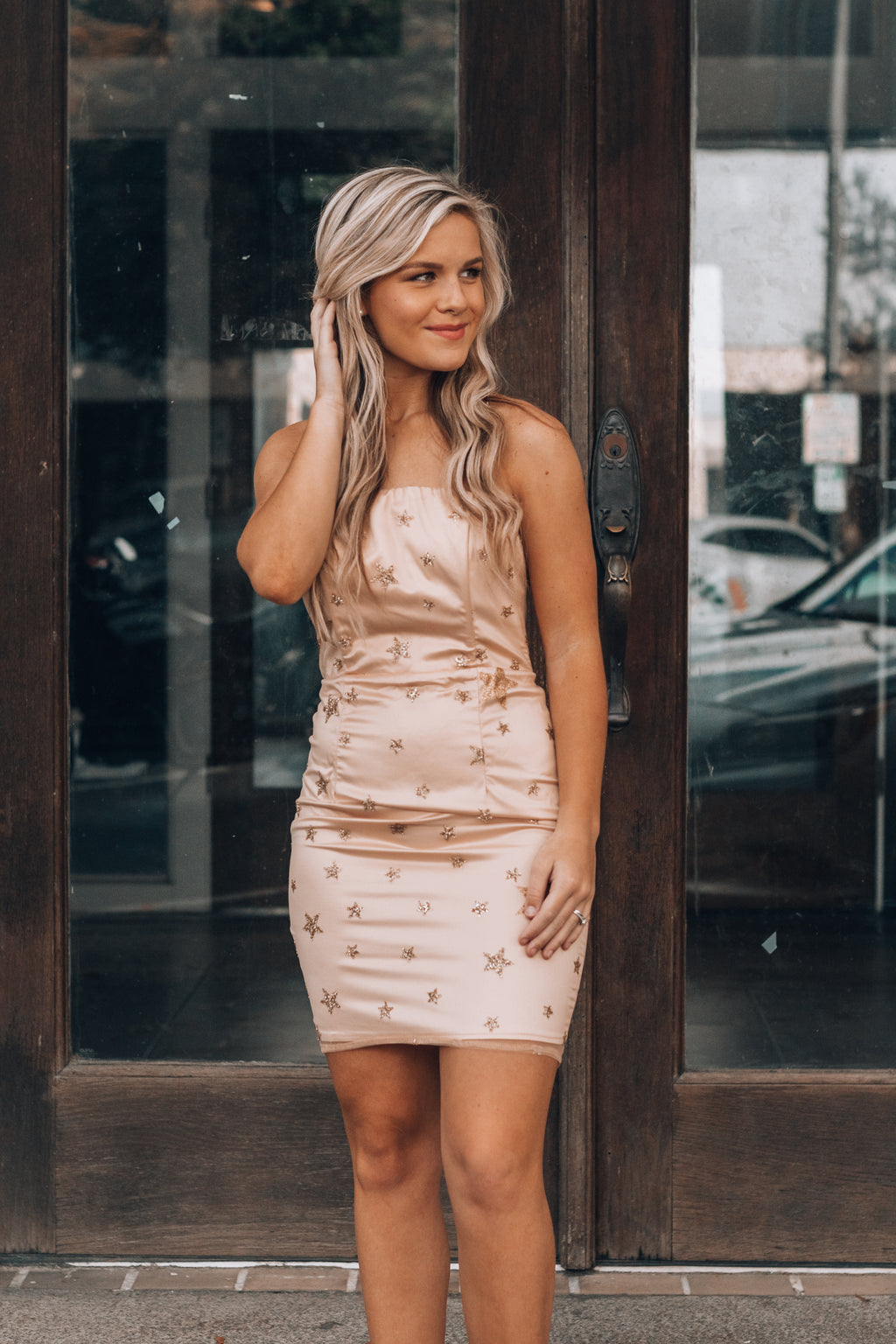A Star Is Born Mini Dress (Champagne)