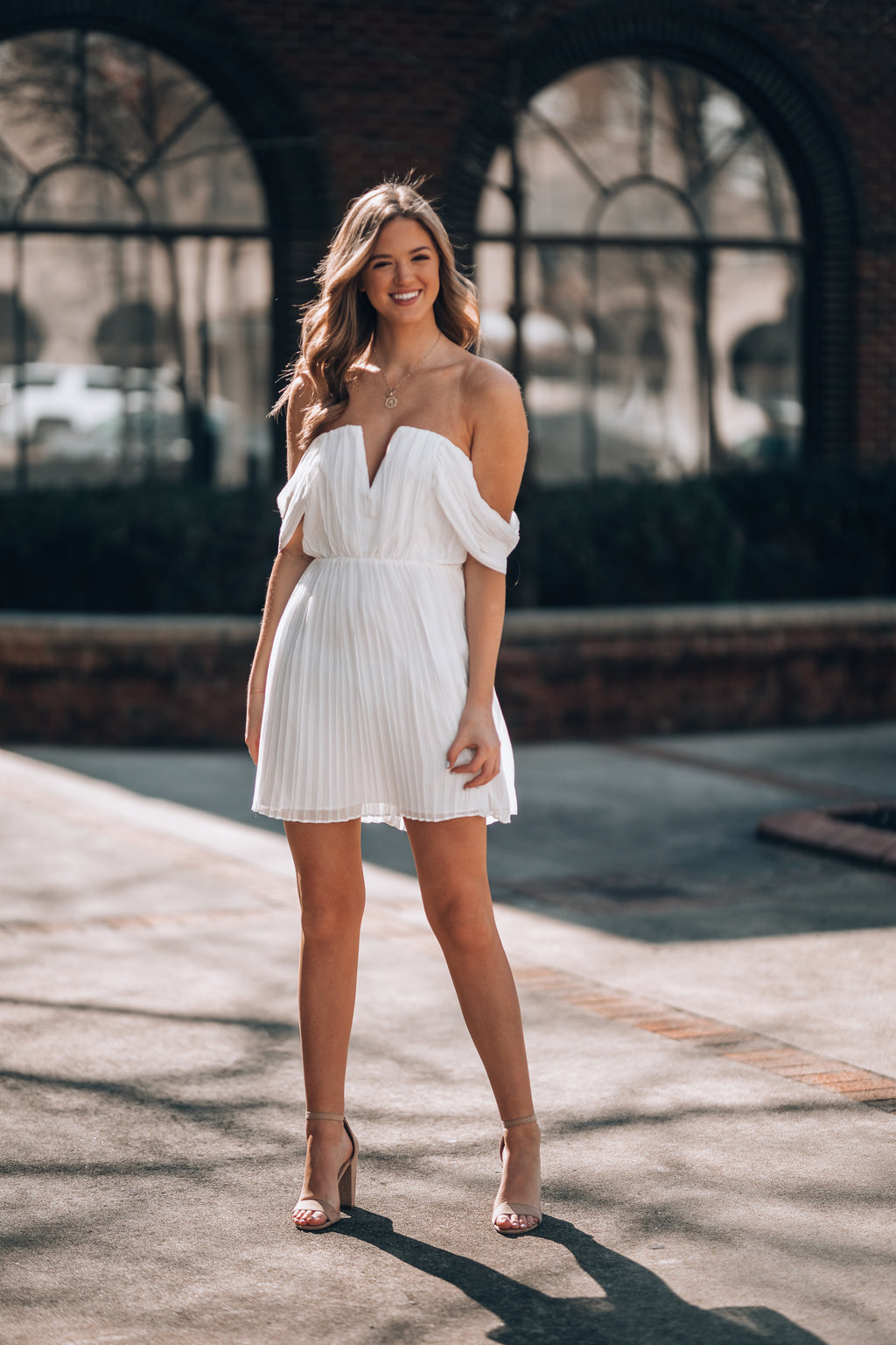 Making Moves Mini Dress (Ivory)