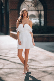 Making Moves Mini Dress (White)