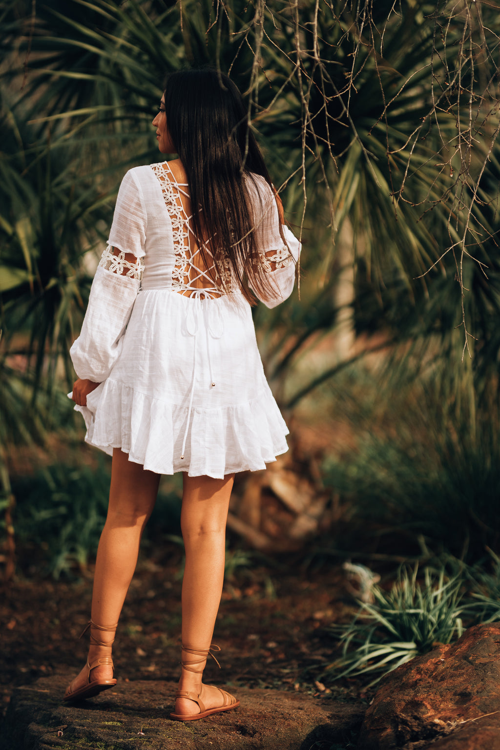 Honeymoon Lace Mini Dress