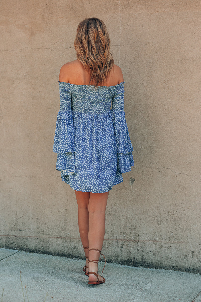 On The Prowl Smocked Mini Dress