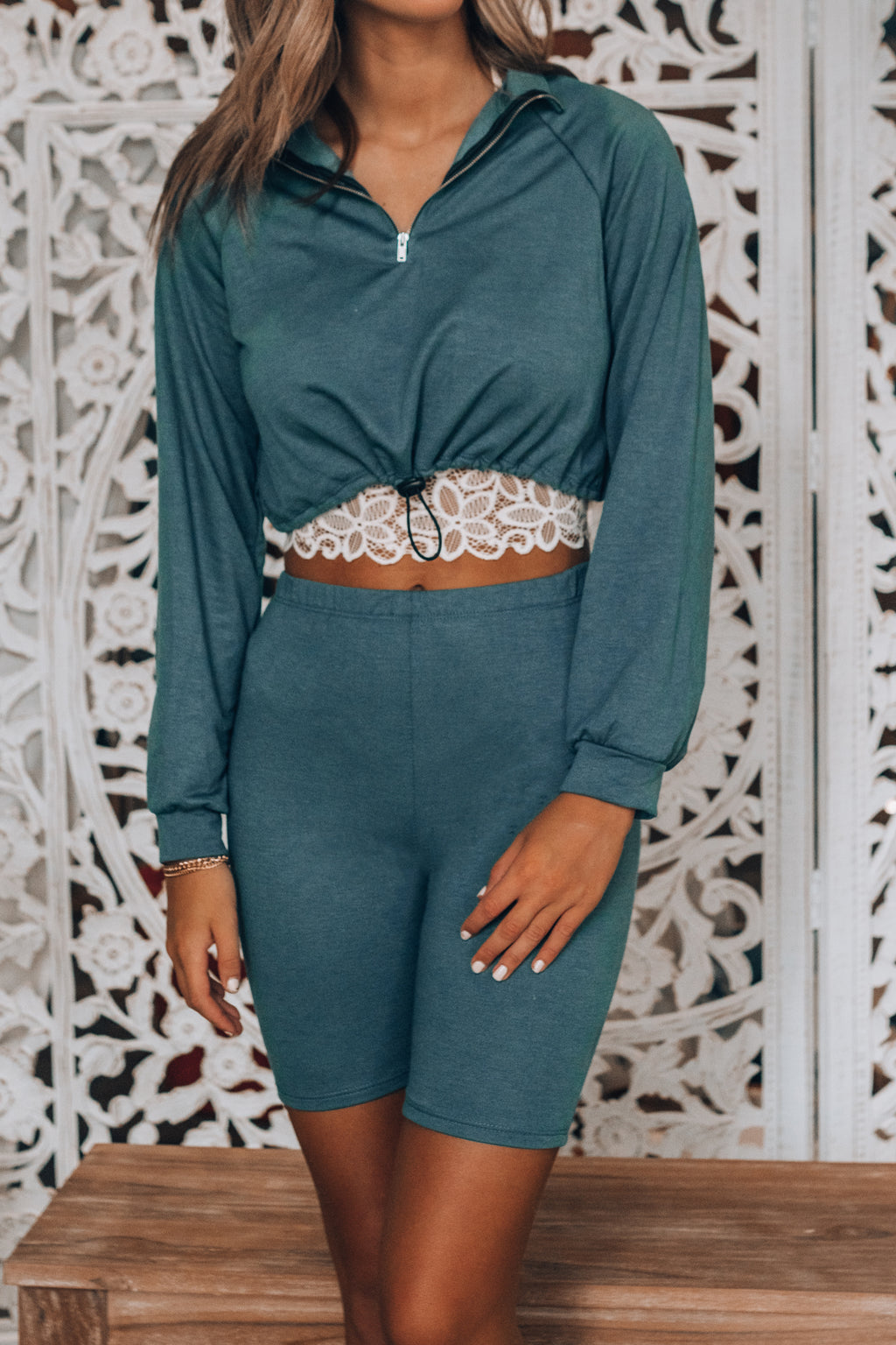 Don't Sweat It Short Set (Teal Blue)