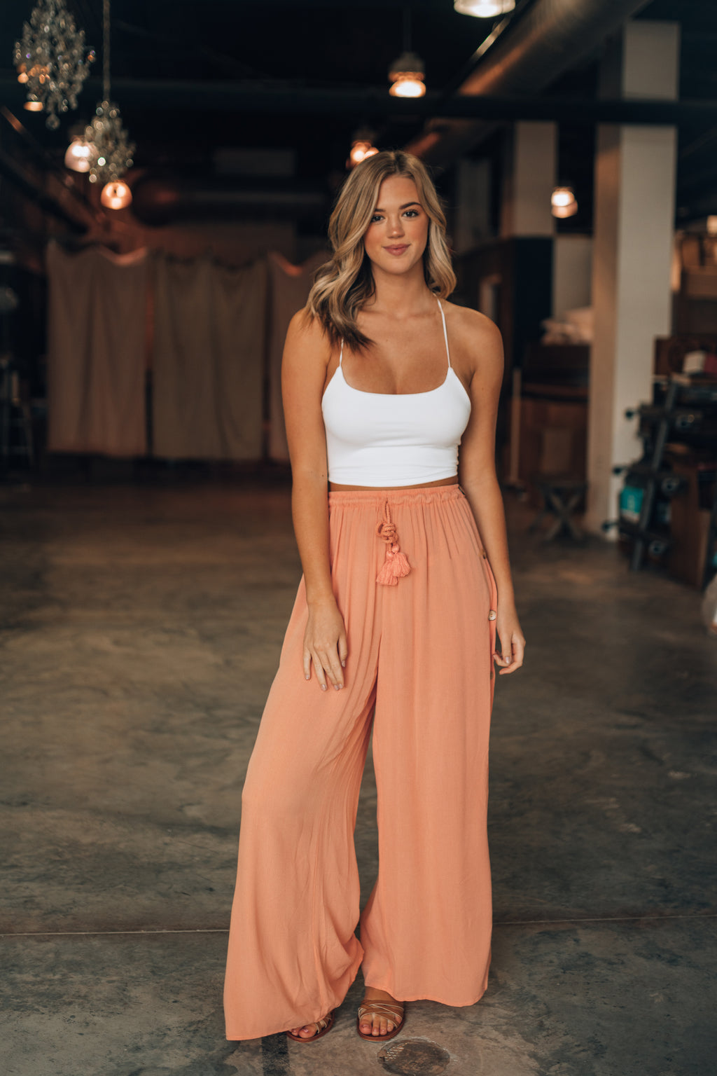 Sweet Life Button Up Pants (Sunset)