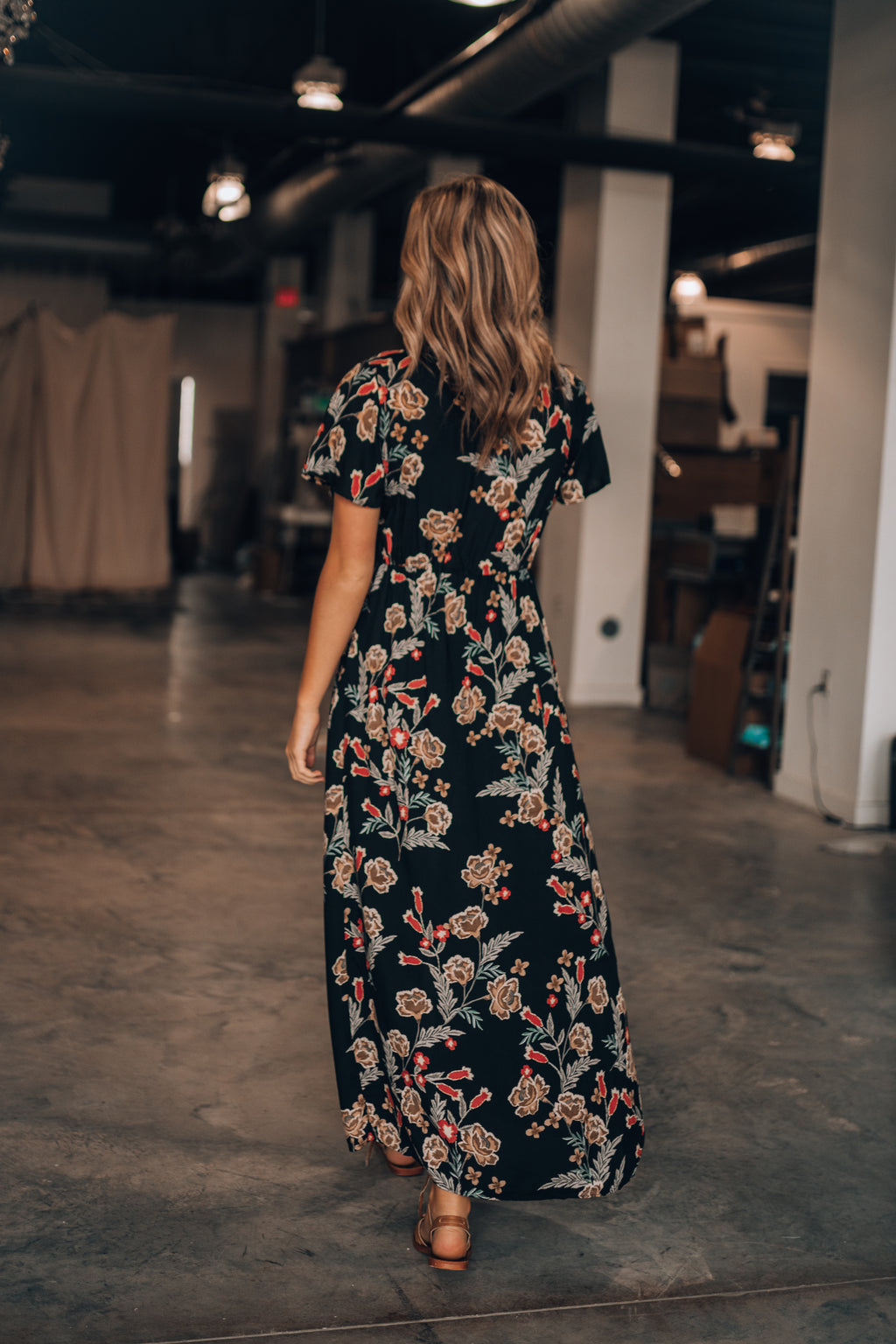 June Floral Maxi Dress Romper