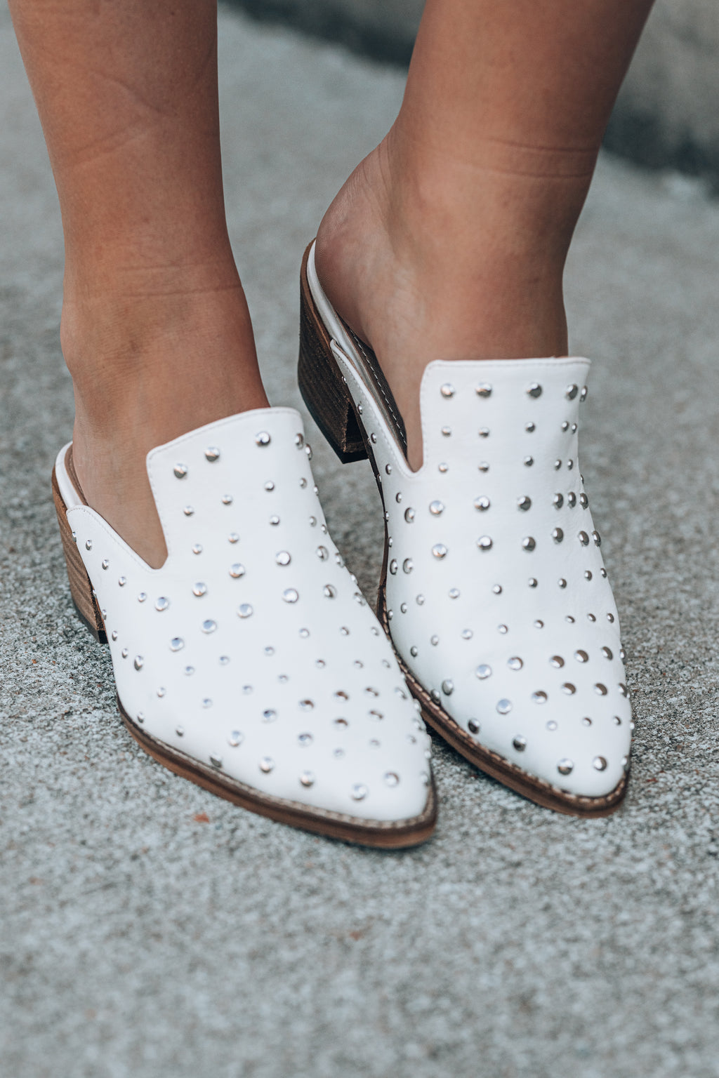 Zeppelin Studded Mules - FINAL SALE