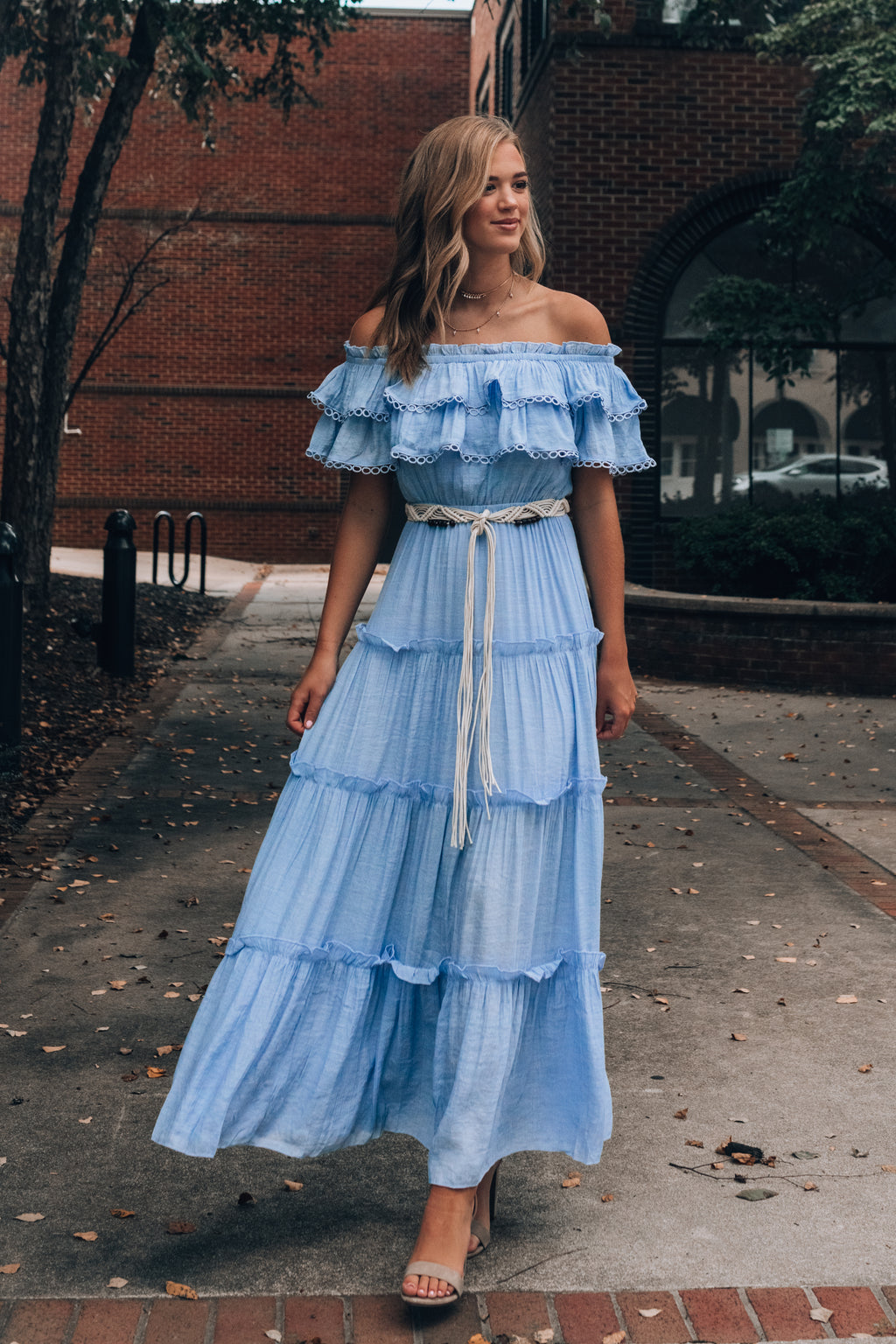 Nina Ruffle Maxi Dress