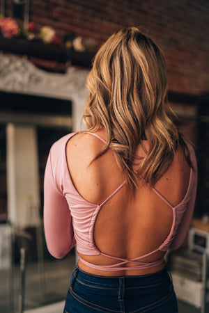Wildest Dream Open Back Top (Mauve)
