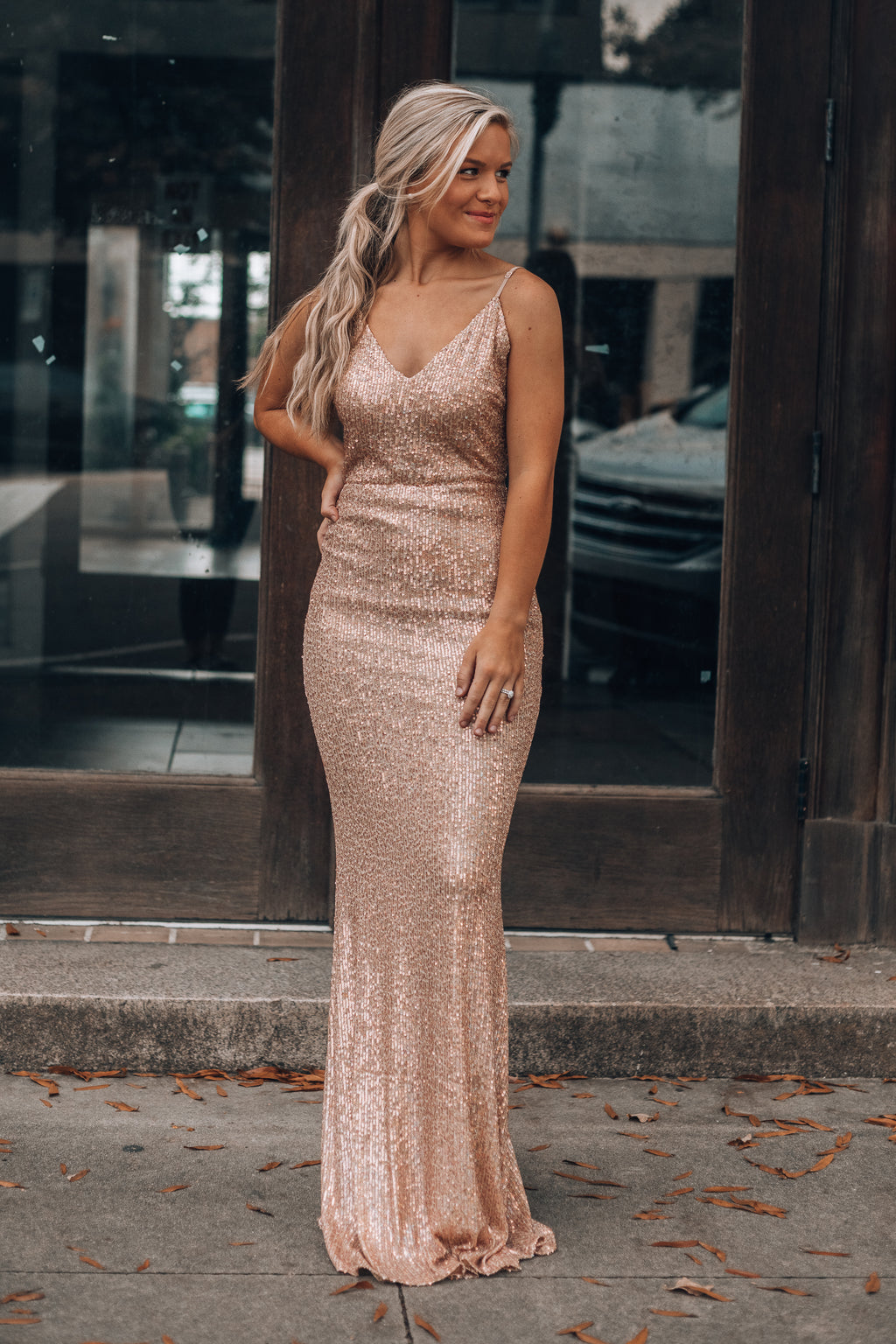 A Night To Remember Maxi Dress (Champagne)