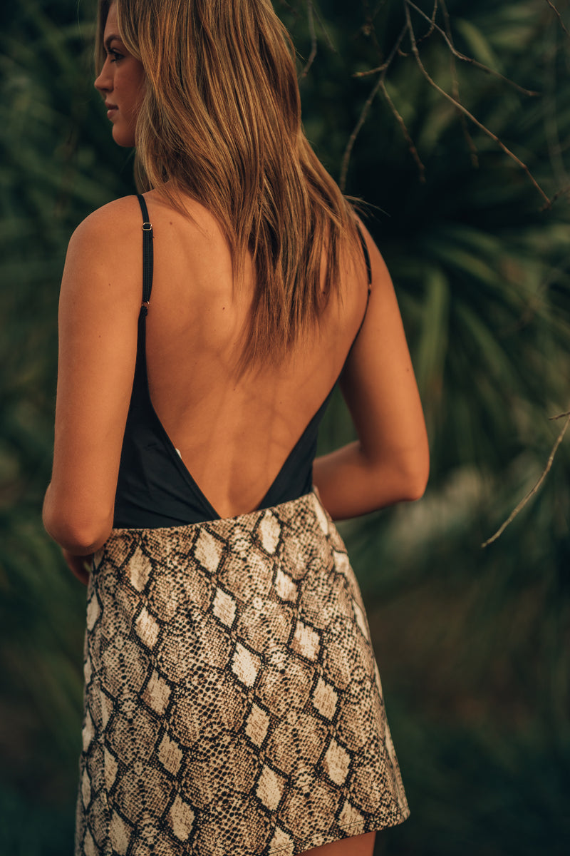 Shake It Snake Mini Skirt - FINAL SALE
