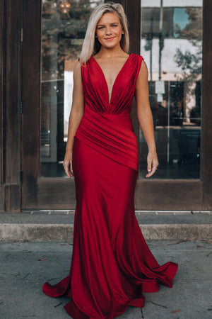 Alessandra Maxi Gown (Burgundy)