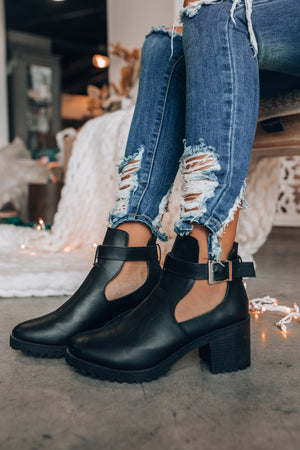 Go The Mile Booties (Black)