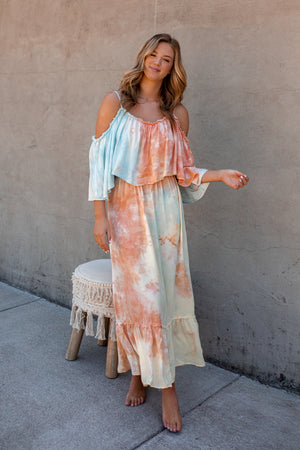 Feel The Sun Tie Dye Maxi Dress - FINAL SALE
