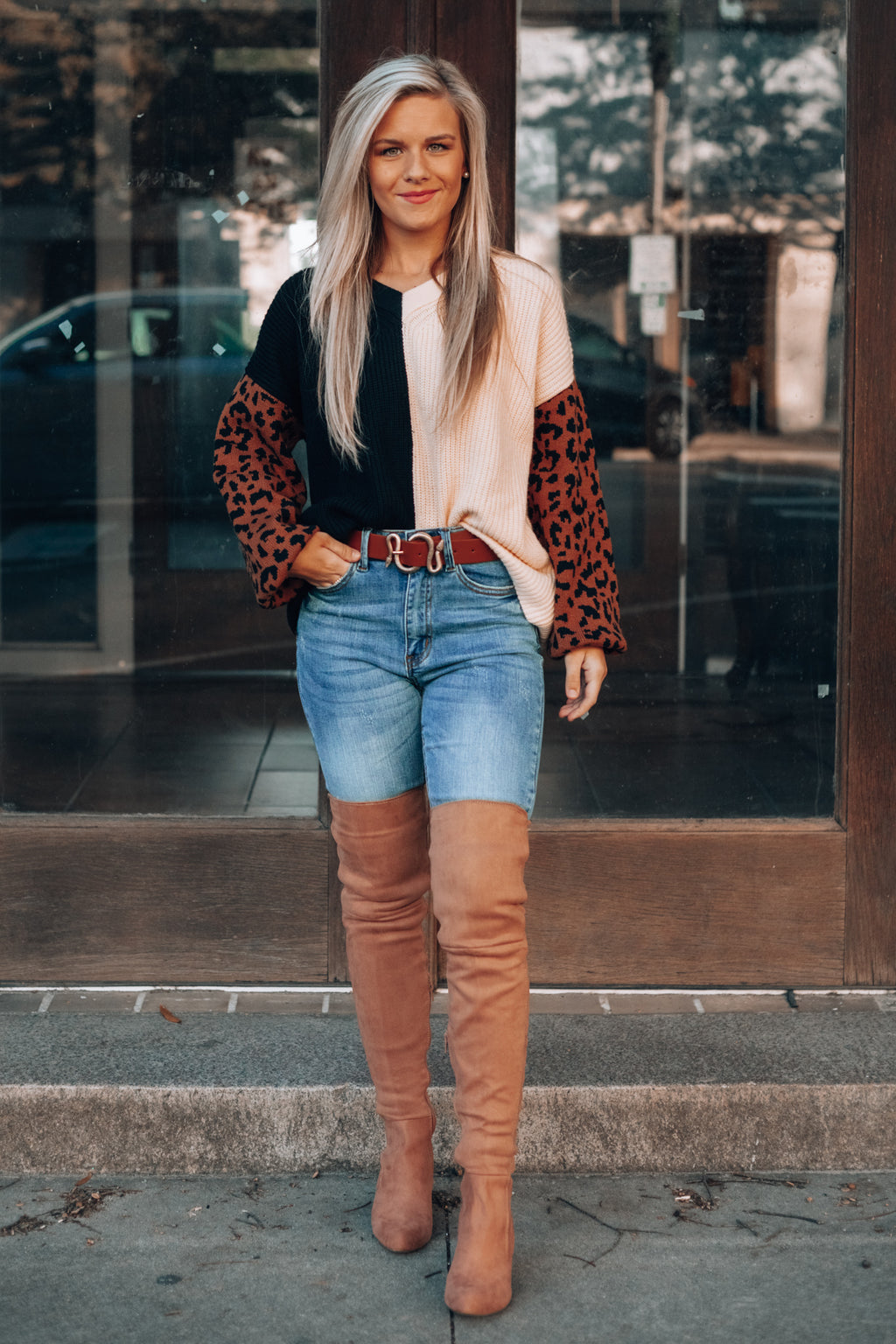 Ava Knit Leopard Sweater