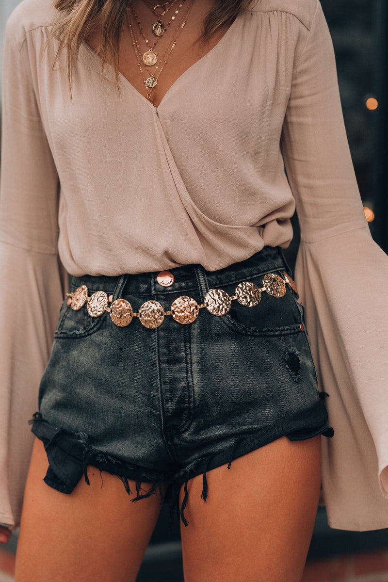 Malibu Distressed Shorts (Black)